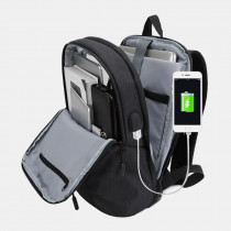 Men Large Capacity Business Backpack Student Bag With USB Charging Port