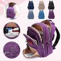 Women Nylon Multifunction Waterproof Casual Patchwork Backpack