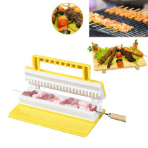 Portable Multi-functional Single/Double Row BBQ Meat Skewer Kitchen Meat String Device Barbecue String Tool