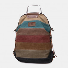 Women Casual Canvas Multi-carry Multifunctional Crossbody Bag Backpack