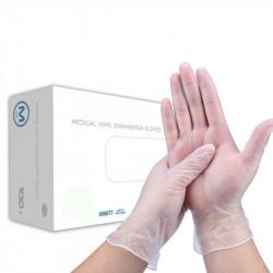 100PCS MATCC Vinyl Disposable Gloves Cleaning Protective Latex Free Gloves Examination Powder Free Food Safe PVC Glove