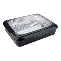 IPRee Outdoor Camping BBQ Food Box Portable Lunch Box Shallow Standard Half Size Foil Pan Lunch Box