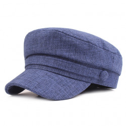 Cotton And Navy Cap Ladies Simple Flat Hat Literary Youth Retro Military Cap