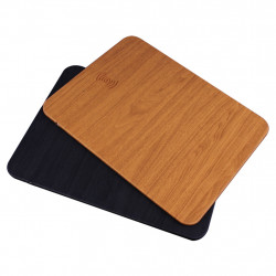OJD-19 Wireless Fast Charger Charging Wood Grain Mouse Pad Mat for Samsung S10+ HUAWEI Xiaomi Redmi and Gaming Mouse