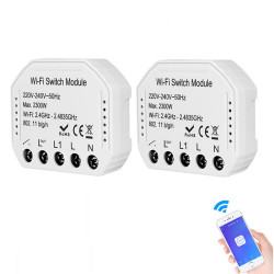 Bakeey 2300W 2Way Wifi Smart Switch Concealed Graffiti Remote Control Support Alexa Google Home For Smart Home