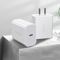 VEGGIEG 18W Type C USB Charger Fast Charging For iPhone XS 11Pro Huawei P30 Pro P40 Xiaomi Mi10 S20 5G