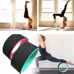 33x12.3cm ABS+TPR Muscle Relaxion Yoga Ring Abdominal Wheel Roller Fitness Strength Training Yoga Circle