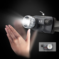 SUNREI 200M Smart Sensor LED Headlamp USB Rechargeable IPX5 Waterproof Bike Headlamps Outdoor Riding Fishing Headlamp