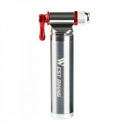 WEST BIKING Aluminum Alloy Bike Pump 160PSI CO2 Mini Lightweight Inflator Without CO2 Tank