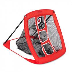 Folding Golf Training Net Square Practice Cutting Rod Net Golf Training Equipment With Storage Bag