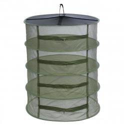 ZANLURE Large 4 Tier Shelf Hydroponic Hanging Growing Herb Dry Rack Drying Net 3yue Fishing Net
