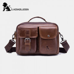 Men Genuine Leather Vintage Business Bag Crossbody Bag Handbag For Work