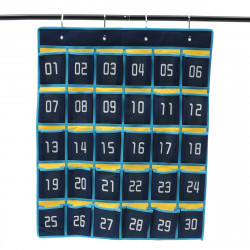 Classroom Hanging Organizer 30 Pockets Cell Phones Storage Bag Business Cards Wall-mount Bag