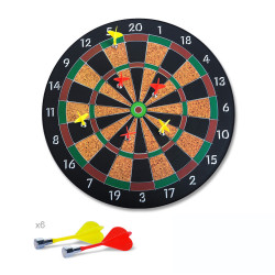 16inch Professional Colorful Dart Board Family Games Set Safety Magnetic Darts Game With 6 Pcs Dart