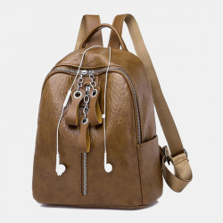 Women Fashion Waterproof Light Weight Anti-theft Backpack Shoulder Bag With Headphone Port