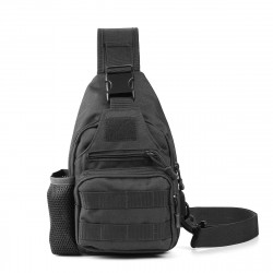 Oxford Cloth Tactical Bag USB Charging Chest Bag Climbing Hiking Shoulder Bag