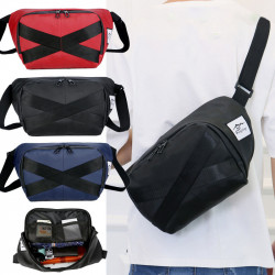 Men Women Fashion Large Capacity Leight Weight Chest Bag Shoulder Bag Crossbody Bag For Outdoor Camping