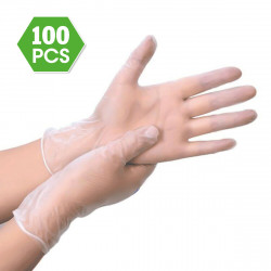 XIMO 100 Pcs PVC Transparent Disposable Gloves Prevent Dust Waterproof Safety Glove