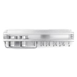 Space Aluminum Kitchen Rack Double Cup Chopstick Holder Seasoning Wall Mount Storage for Kitchen Arrangement