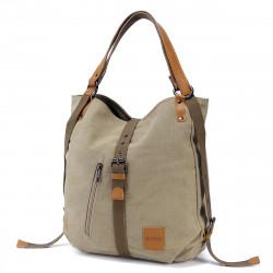 Multifunctional Canvas Bag Women Convertible Backpack Purse Ladies Shoulder Bag Casual Handbag