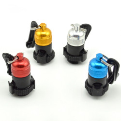 KEEP DIVING HC-905 Aluminum Alloy+Stainless Steel Diving BCD Breath Regulator Tube Clamp Magnetic Quick Shackle Diving Accessories