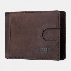 Men Genuine Leather Vinatage Thin Wallet Card Holder