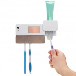 UV Light Sterilizer Toothbrush Holder Toothpaste Dispenser Wall Mounted Cleaner