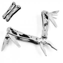 LAOTIE 10 in 1 Stainless Steel Folding Multifunctional Pliers Tools Mini EDC Knife Opener