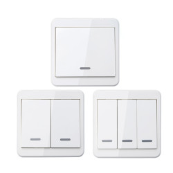 Bakeey 10A RF 433Mhz Wireless Wifi Remote Control Smart Switch Panel Dual Control Light Button Rocker Switch For Smart Home