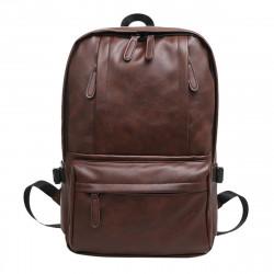 13L Leather Backpack Rucksack Laptop Shoulder Bag Outdoor Sports Travel