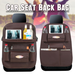 PU Auto Car Seat Back Multi-Pocket Storage Bag Organizer Holder Accessory Black Car Seat Chair Cushion