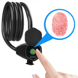 BIKIGHT Intelligent IP65 0.5S Unlock bluetooth Fingerprint Lock Bike Steel Wire Waterproof Lock For Bicycle Motorcycle