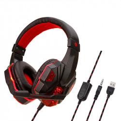 3.5mm LED Gaming Headset Mute Headphone with Microphone For PS4 Switch Laptop Game