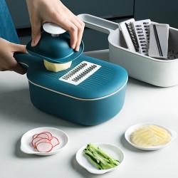 Kitchen Multi-functional Vegetable Cutter Slicer Multifunctional Round Mandoline Slicer Potato Cheese Kitchen Gadgets Fruit Grater