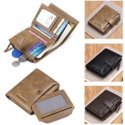 Men Genuine Leather Wallet Card Holder