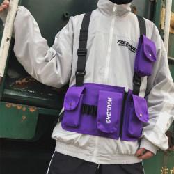 Men Women Fashion Chest Bag Tactical Multi-pocket Vest Bag