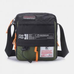 Men Fashion Outdoor Travel Bag Nylon Waterproof Shoulder Bag Crossbody Bag