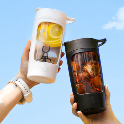 650ml USB Charging Mixing Cup Portable Juicer Fruit Soaking Machine Sports Lemon Kettle Juice Shake Cup Home Travel Camping