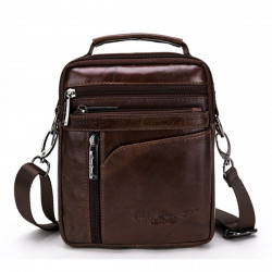 Men Genuine Leather Shoulder Bag Business Messenger Satchel Crossbody Bag