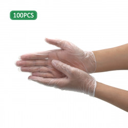 ZANLURE 100 Pcs of Nitrile Disposable Gloves Work GlovesPowder Free Textured For Foodstuff Chemical Domestic Industry Work
