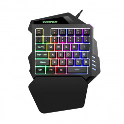 G94 35Keys Mini USB Wired Gaming Keyboard With 3 colors LED Backlight One-handed Keypads for Computer Desktop Laptop Phone
