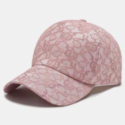 Women Fashionable Lace Baseball Cap Breathable Sequin Sun Hat