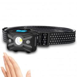 WARSUN 577 XPG 800LM Lightweight Smart Sensor Headlamp 5Modes Rechargeable Waterproof Red Warning Light For Night Safe Riding Cycling Fishing