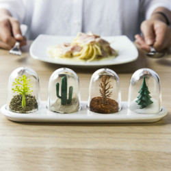 4 PCS/ Set Seasoning Shaker Bottle Four Seasons Plant Creative Animals Flavouring Bottle Salt Sugar Pepper Shaker Cooking Tools Kitchen Organizer