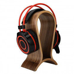 Wooden Headset Stand Arch Bridge Shape Gaming Headphone Display Holder Hanger Walnut Headphone Rack