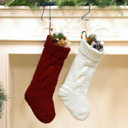 Knitted Gifts Christmas Sock Hanging Gift Bags Decoration Pendant Candy Bags Twisted Socks Large
