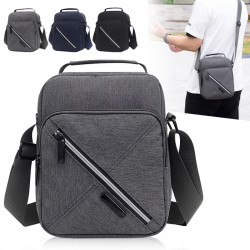 Men Waterproof Nylon Casual Shoulder Bag Crossbody Bag