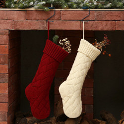 Knitted Christmas Socks Gift Bags Decoration Supplies Wool Sock