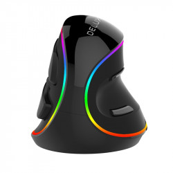 Delux M618 PLUS Wired Vertical RGB Gaming Mouse 6 Buttons 4000DPI Ergonomics Optical Right Hand Mice For PC Laptop