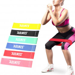 AOLIKES 6Pcs/Set Resistance Bands Fitness Equipment Yoga Band Gym Strength Training Rubber Loops
